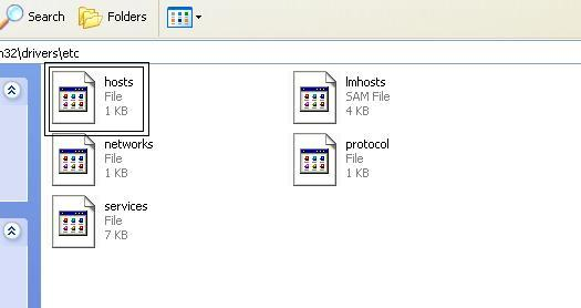 Open the hosts file with a word processor like NotePad