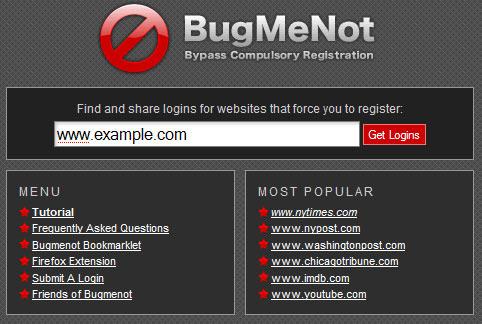 BugMeNot