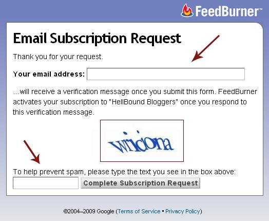 FeedBurner Email Subscription - HBB