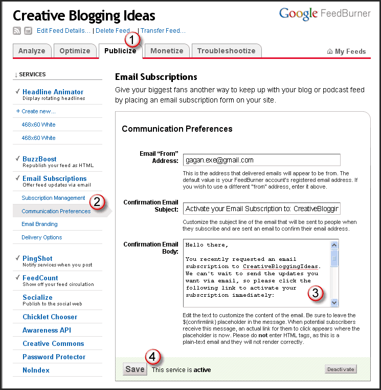 Customize Confirmation Email Body