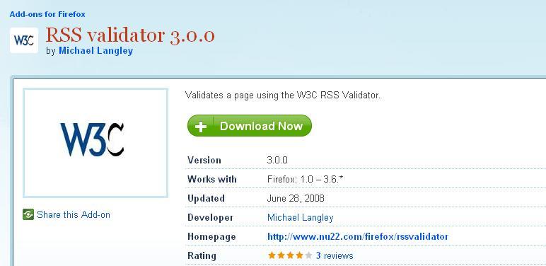 RSS validator 3.0.0