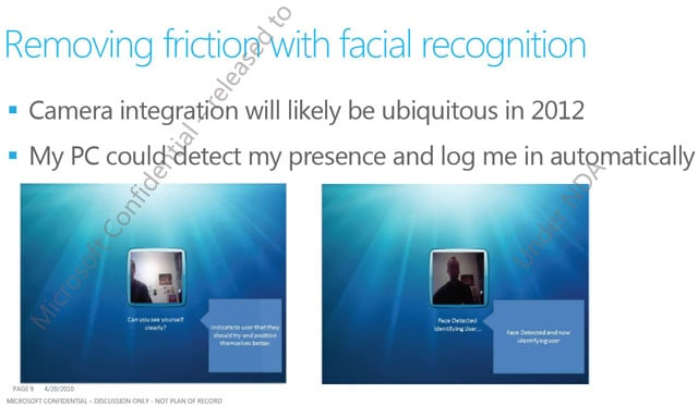 Windows 8 Facial Recognition Login