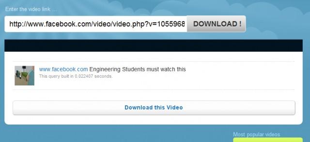 Download FB Video link