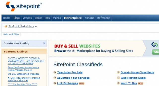 Sitepoint Marketplace