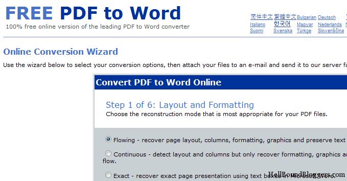 Free PDF To Word