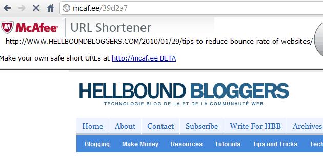 McAfee Short URL