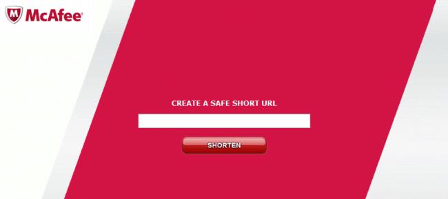 McAfee URL Shortener
