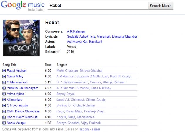 Google Music Robot