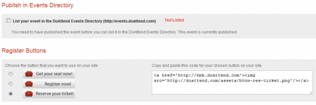 Promote Event - DoAttend