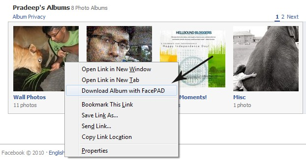 Download FB Albums