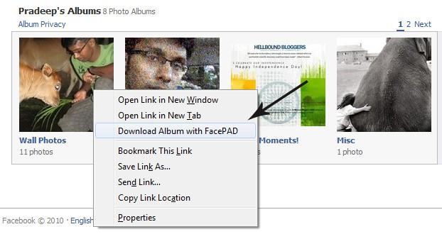 Download FB Albums