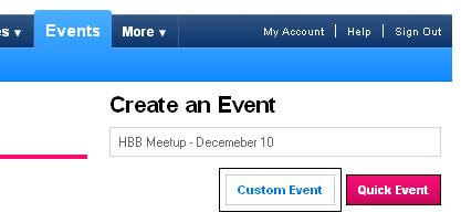 Custom Event - MySpace