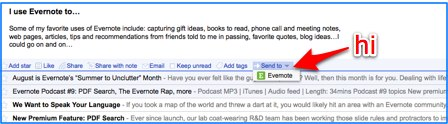 Evernote Google Reader