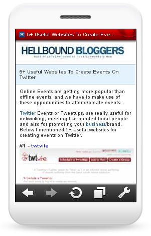 HBB Mobile Site II