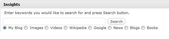 illustration of the insights plugin at wordpress dashboard