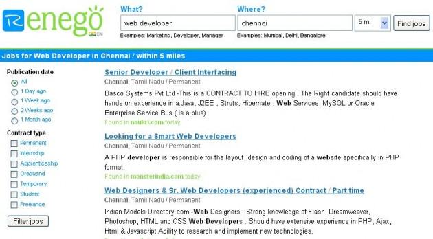 Renego Job Search