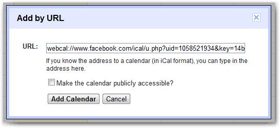 Add URL - Events
