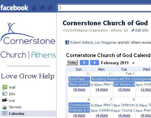 FB Fan page Google Cal
