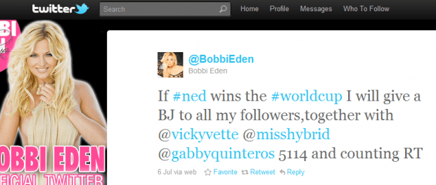 Bobbi's Tweet