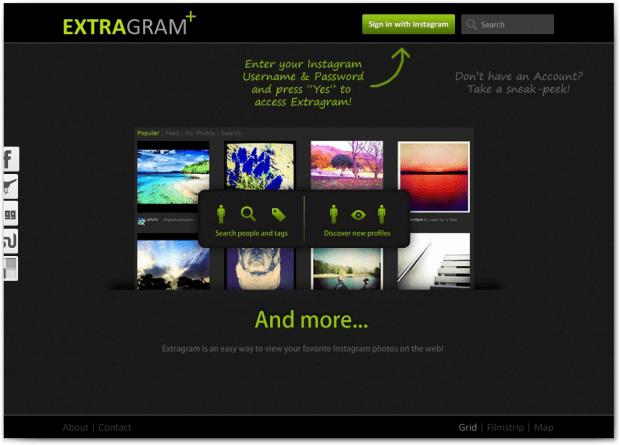 Extragram Site