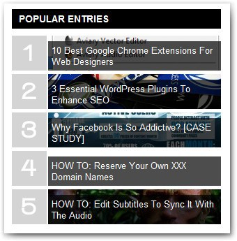 Popular Entries HBB