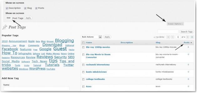 Remove WordPress Tags