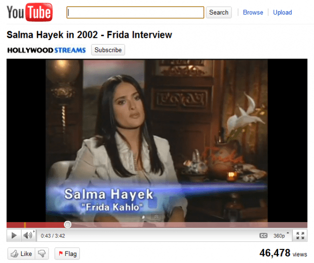 Salma Hayek Interview - YouTube Feather