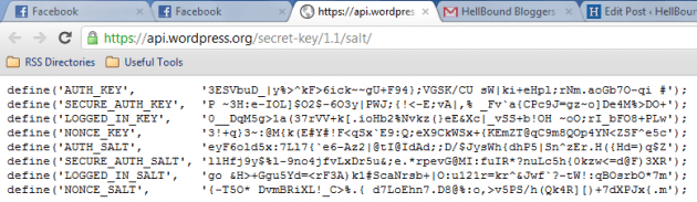 WP Secret Keys