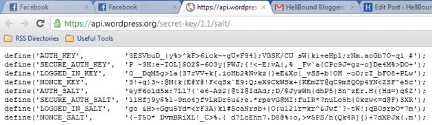 WP Secret Keys