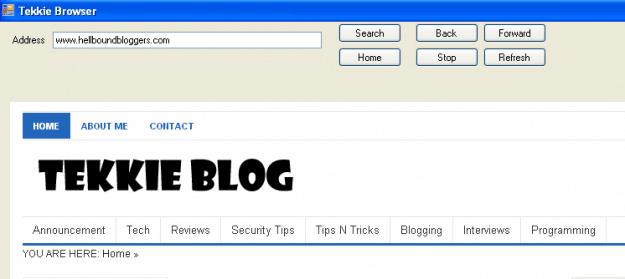 TekkieBlog - Tekkie Browser
