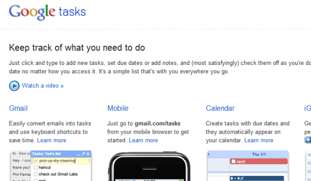 Gmail Tasks