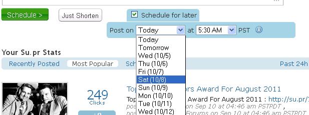 Schedule Su.pr