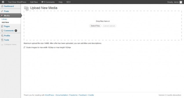 WordPress 3.3 smart media uploader