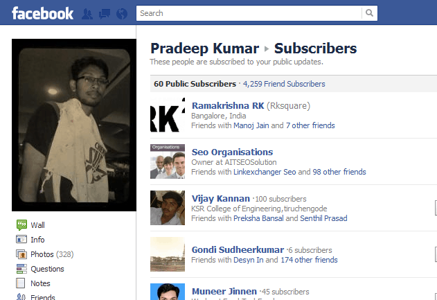 FB Subscribe Option