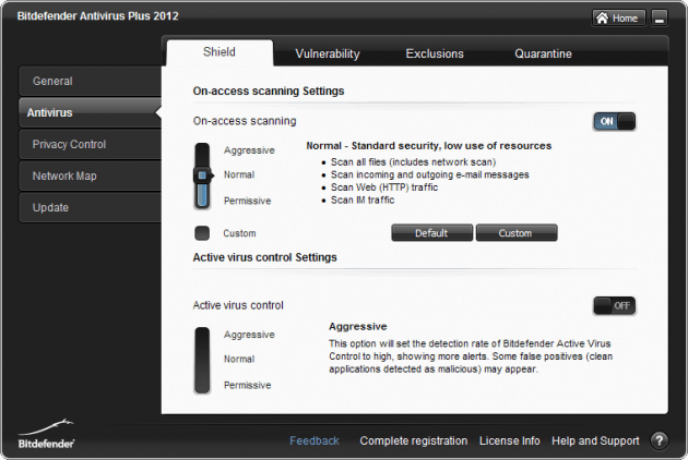 Bitdefender AV Plus 2012 Screenshot