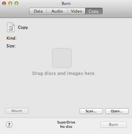 DVD Burner for Mac OS