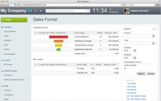 Bitrix24 - sales funnel