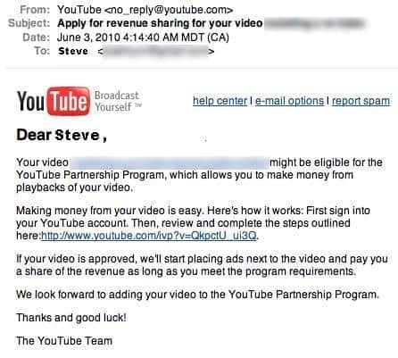 YouTube - Revenue Sharing