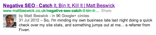Rich Snippets Author Markup