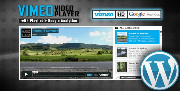 Vimeo Video Player WP Plugin with Playlist
