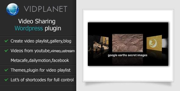 Vidplanet WordPress Video Sharing Plugin