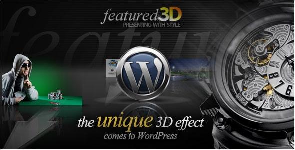 3D content Slider WordPress Plugin