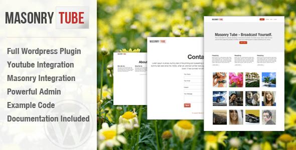 Masonry Tube WordPress Plugin