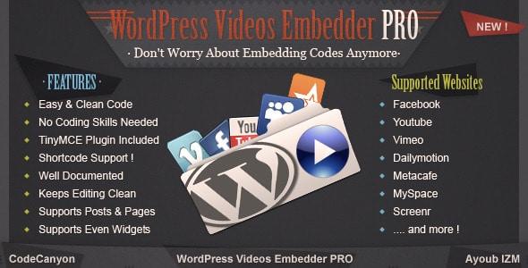 WordPress Video Embedder Pro