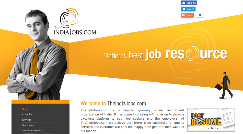 Theindiajobs Homepage