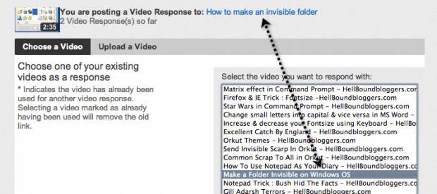 youtube seo video response