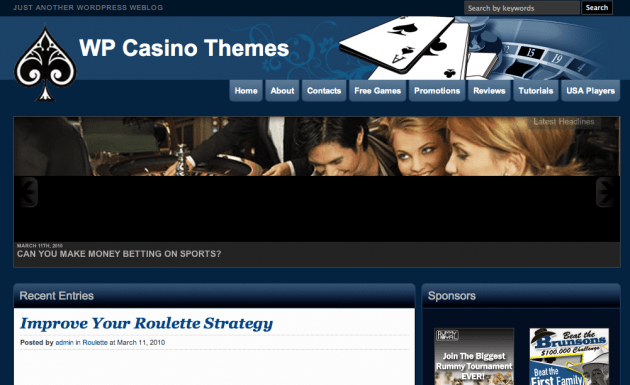wp casino theme