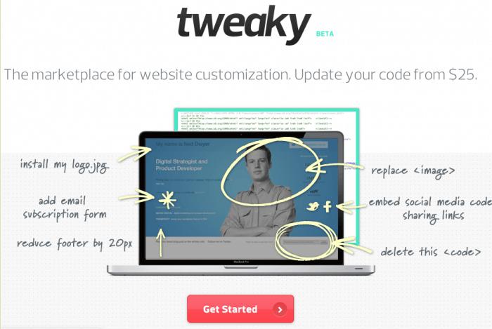 Tweaky Homepage