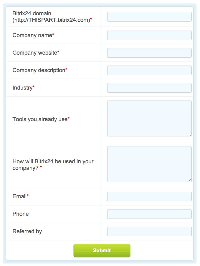 bitrix24 form