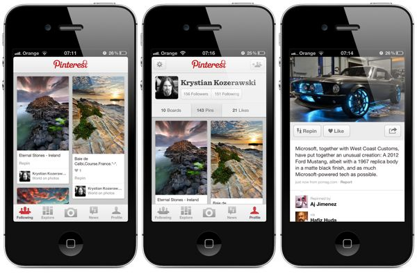 Pin your images with pinterest mobile app for Pinterest download